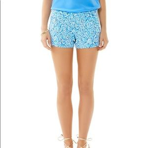 Lilly Pulitzer Addie Short in Blue Fish